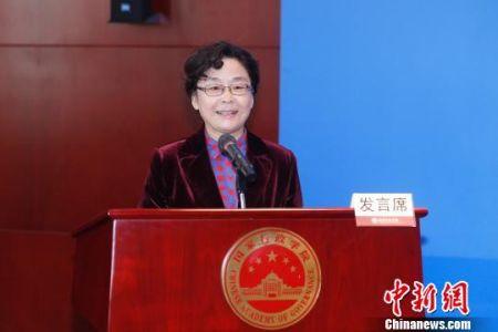 图为中央党校(国家行政学院)副教育长陈岩讲话。 韩海丹 摄