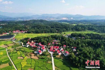 资料图:江西芦溪县秀美乡村航拍照片。刘占昆 摄