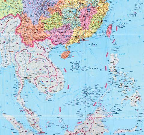 南海九 地图矢量
